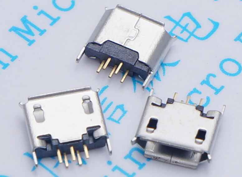 <font><b>10pcs</b></font> Vertical MICRO mini <font><b>USB</b></font> 5pin female seat 180 degrees jack 5P Direct plug-in <font><b>USB</b></font> <font><b>connector</b></font> Free shipping image
