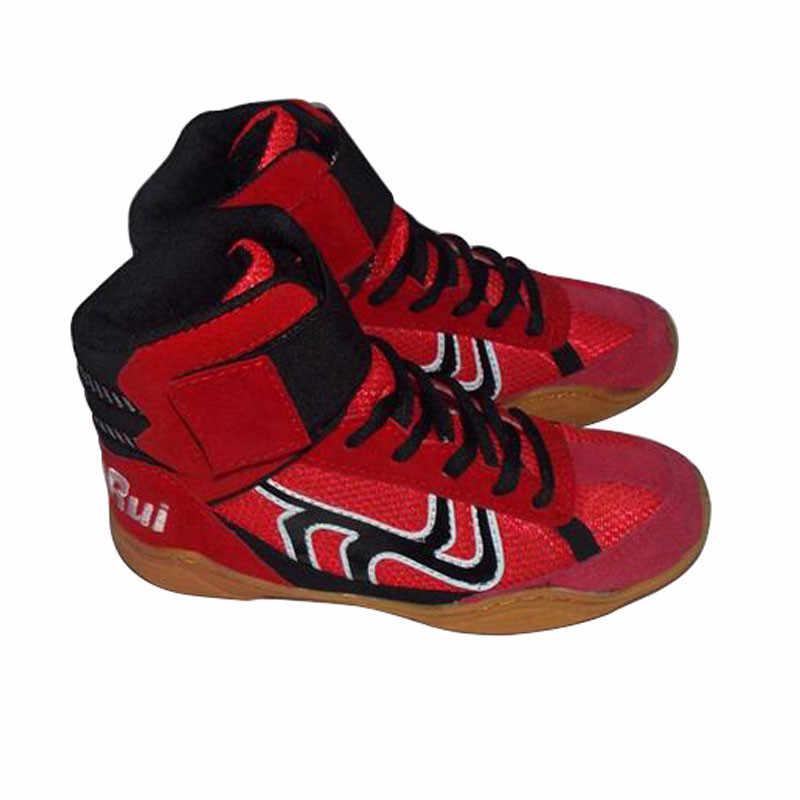 Hotsale أحذية مصارعة ليوبارد أحذية مصارعة الكبار الاطفال التدريب حذاء رياضة المهنية تصارع لكمة حقيبة الرياضة أحذية مصارعة