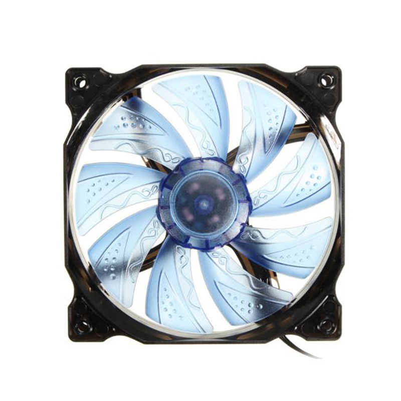 GTFS-3-pin / 4-pin <font><b>PWM</b></font> control <font><b>120mm</b></font> 1000 RPM LED PC <font><b>Fan</b></font> CPU Cooling Case Black image