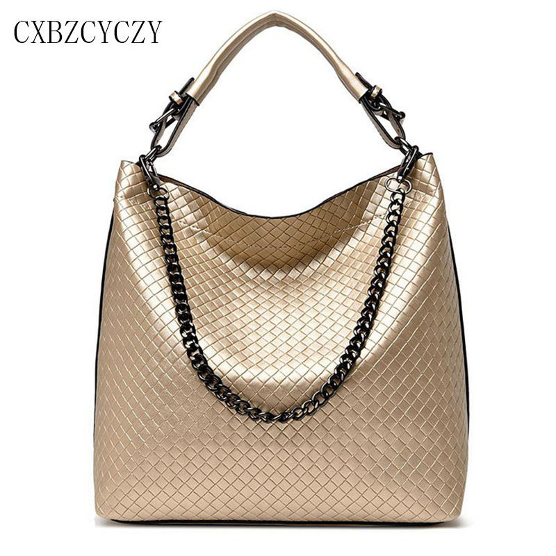 Women Messenger Bags Luxury Handbags Designer Pu Leather Chain Shoulder Bag Female Crossbody Bags For Women Weave Big Bolsos