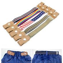 Детские пряжки, эластичный ремень на пояс, ремни для детей, регулируемый пояс для мальчиков и девочек, джинсы, брюки, аксессуары