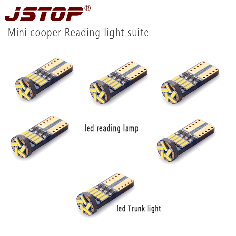 JSTOP 6pcs / set MINI COOPER Light T10 W5W bombillas 12VAC lámpara - Luces del coche
