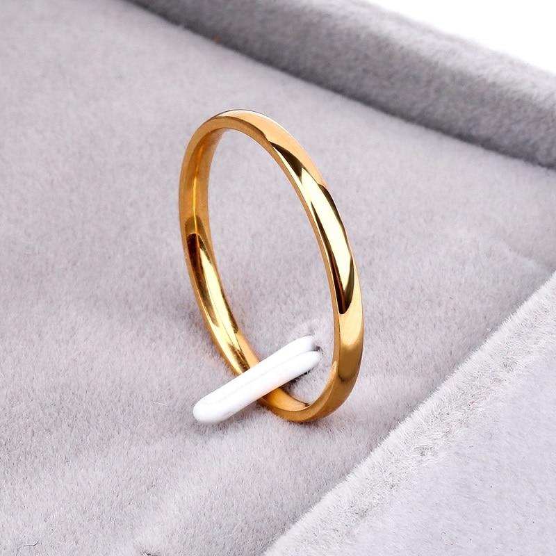 Тук титановая сталь Розовое золото антиаллергенные гладкие Простые Свадебные Кольца для пар бижутерия для мужчин или женщин подарок - Цвет основного камня: J8