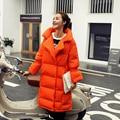 2016 Зимой Новое Прибытие Женщин Пуховик Длинные Вниз Куртка Пальто Зимы Женщин Куртки Белый Черный Orange