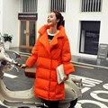 2016 inverno nova chegada das mulheres para baixo casaco longo para baixo casaco parka mulheres jaqueta de inverno branco preto orange