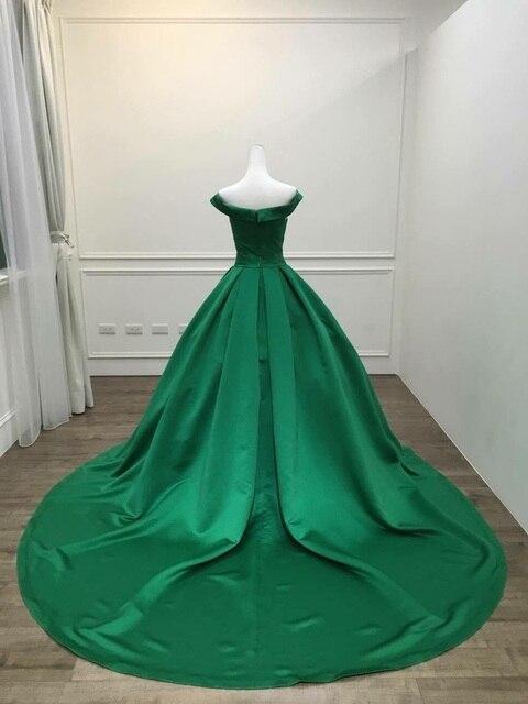 2021 Elegant Simple Red Prom Dresses V Neck Ball Gowns Cap Sleeve Satin vestidos de formatura Backless Reflective Dress 6