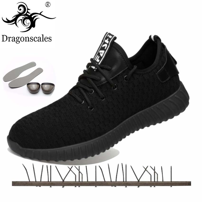Dragonscales Construction Mens Outdoor Plus Size Steel Toe Work Boots Shoes Men Steel plate bottom Puncture Proof Safety ShoesDragonscales Construction Mens Outdoor Plus Size Steel Toe Work Boots Shoes Men Steel plate bottom Puncture Proof Safety Shoes