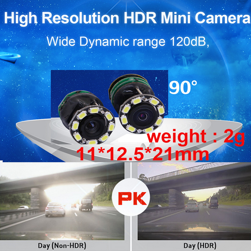 wide dynamic 120dB HDR 1000 TV line mini camera 60fps drone camera 2g 90degree CCTV camera night vision 1000 tvl camera POWER 5V