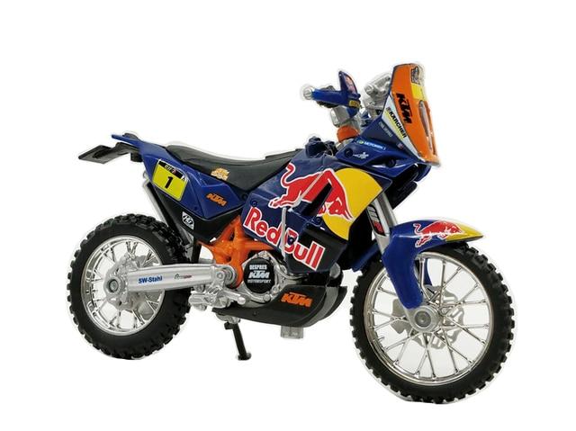Bburago 1:18 Dakar Rally KTM 450 Red bull #1 Diecast Racing Motocross
