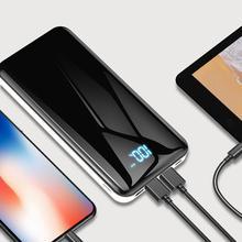 30000 mAh Мощность банк Портативный внешний Батарея USB Выход цифровой Дисплей Быстрая зарядка Мощность банка для Xiaomi Mi iPhone X Примечание 8