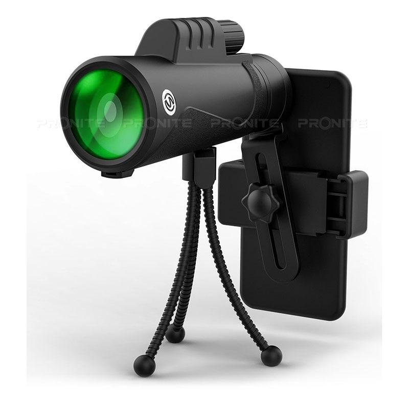 Image 3 - Professional Monocular 10X42 Optics Zoom Telescope HD Scope with Phone Holder Tripod Waterproof Hunting Turizm Opera Spyglass-in Monocular/Binoculars from Sports & Entertainment
