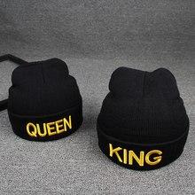 Bordado carta impresión hombres mujeres sombrero de invierno cálido casual  de punto hip hop gorras gorro. 6 colores disponibles 0344f09a932