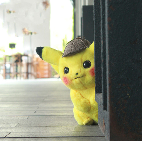 2019 new 25/30/35cm Detective Pikachu Plush Toy High Quality Cute Anime Plush Toys Childrens Gift Toy Kids Cartoon Peluche-in Stuffed & Plush Animals from Toys & Hobbies
