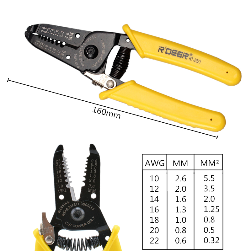 Online Shop RDEER Wire Stripper Multi Purpose Pliers Take Cutting Edge Cable Hand Tool Electrician Tools