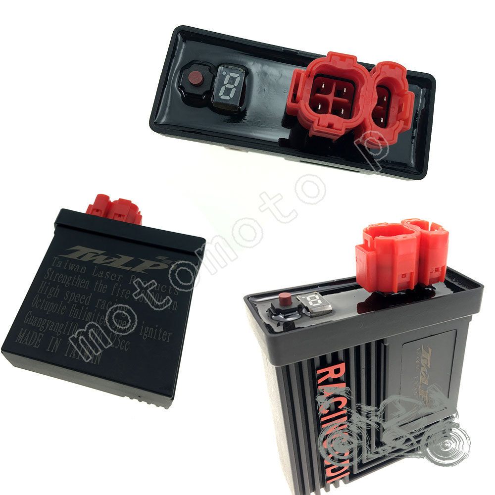 Ignition Coil Performance 6 Pin Digital Adjustable Dc Racing Cdi Box For Gy6 125 150cc 139qmb