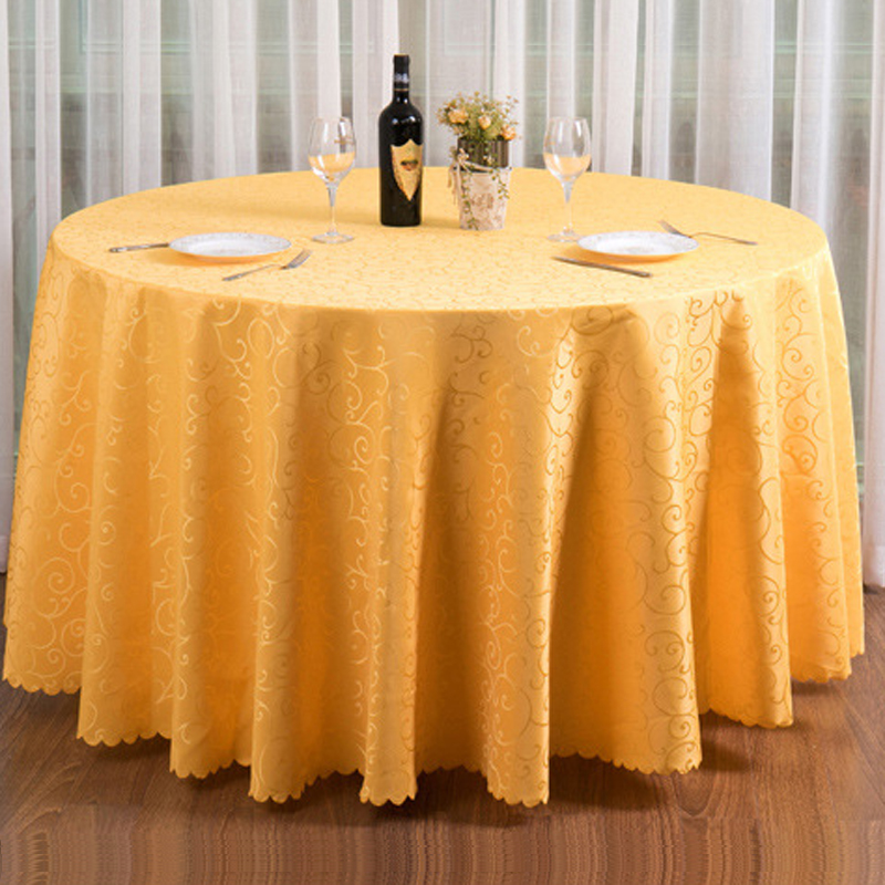 20pcs 240cm Round Embroidered Wedding Table Cloth Round
