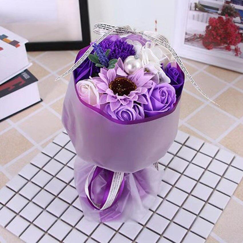 Nouveau bouquet simulé savon roses savon festival activités mariage saint valentin cadeaux créatifs décorations pour la maison LINTINGHAN - 6