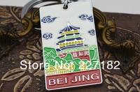 Beijing Great Wall Cloisonne China Travel Tourism Chinese Tourist Souvenir Women Keychain Handbag Chain Gift Men