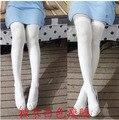 2016 novo Corpo stovepipe moldar pernas finas meias brancas do sexo feminino Na Altura Do Joelho-Alta para o Natal