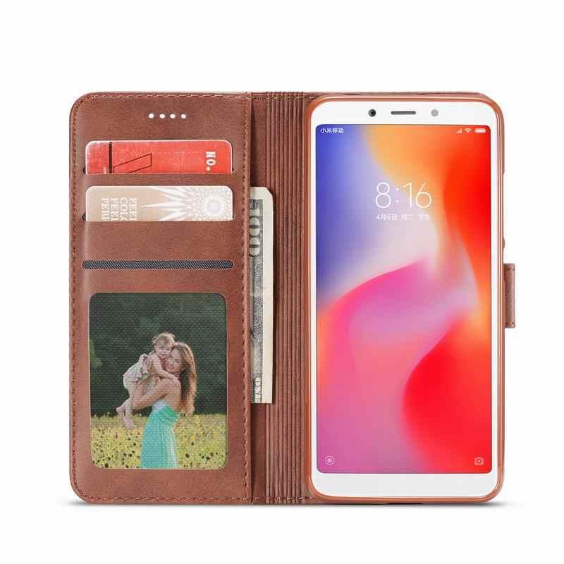 Custodie Per Xiaomi Redmi 6A 7A del Magnete Caso Della Copertura di lusso di Vibrazione Del Raccoglitore Del Telefono Dell'annata Borse In Pelle Su Xiomi Redmi Nota 7 6 UN Pro Coque