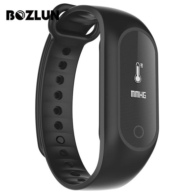 Bozlun b15s homens mulheres esportes pulseira inteligente pedômetro relógio malha de superfície de pressão arterial digital de pulso de oxigênio no sangue