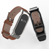 Original Xiaomi Bracelet 2 Mijobs Leather Strap First Layer Leather Strap Second Generation Screw Free Magnetic