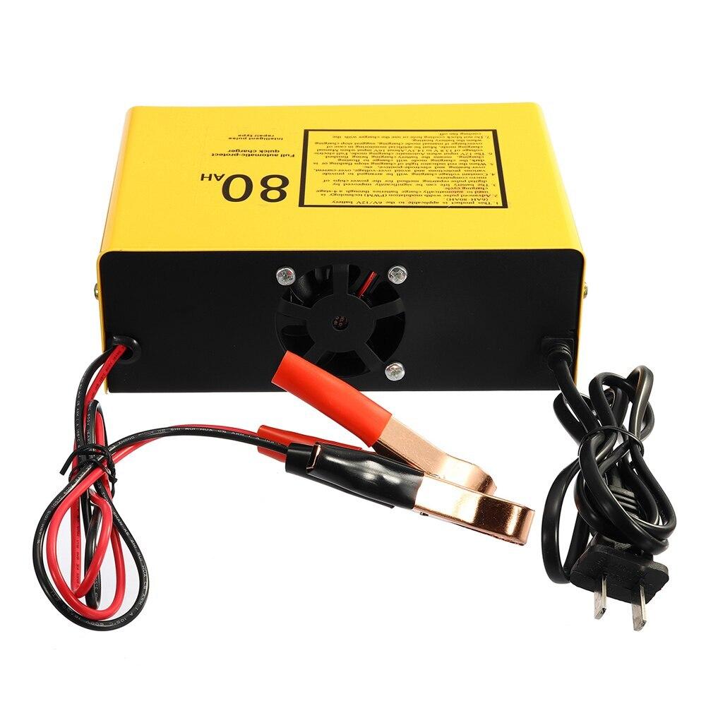 6V/12V 80AH 140W Automatic Intelligent Car Battery Charging Device Negative Pulse For Bmw Ford Volkswagen Audi Peugeot Toyota