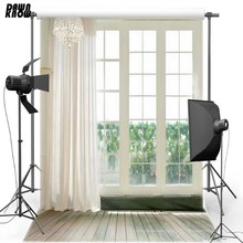 Curtain Window Vinyl Photography Background Wood Floor Indoor Oxford Backdrop For Wedding photo studio Props 0811