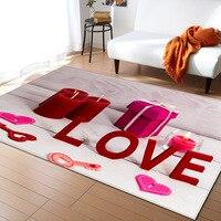 RULDGEE 1PCS Polyester Anti Slip 3D Printing Carpet for Living Room Kitchen Mat Bedroom Carpet Floor Door Mat Decoration Carpet