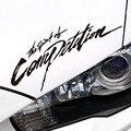 Estilo do carro o espírito de competição de design cabeça lâmpada adesivos e decalques para ford focus/vw/kia rio/mazda 3/skoda/cruze