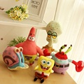 Hot Sale Children Lovely Spongebob Plush Toys Movie&TV Characters Eugene H. Krabs Parick Staer Plush Toys Dolls Kids Best Gifts