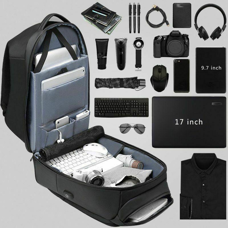 Hommes sac à dos de voyage pour ordinateur portable Hydrofuge Fonctionnel Sac À Dos avec Port USB MUG88