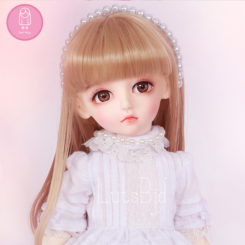 Wig For BJD Doll shinee LutsbjdlHoney Delf size 5-6 inch 1/6 high-temperature Straight Wig bjd doll Lovely Wig in beauty L06C wig for bjd doll 7 8 inch doll accessories high temperature wig 1 4 bjd doll long hairstyle l4 02 1bcolor lovely hair delicate