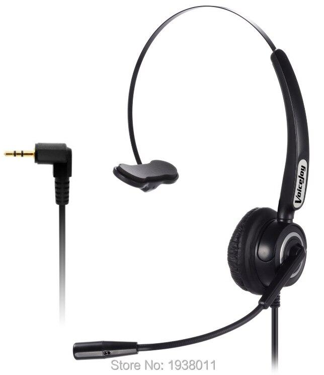 bilder für NEUE Professionelle mono-call-center telefone headset telefon kopfhörer mit 2,5mm klinkenstecker, RJ9/RJ11 stecker optional