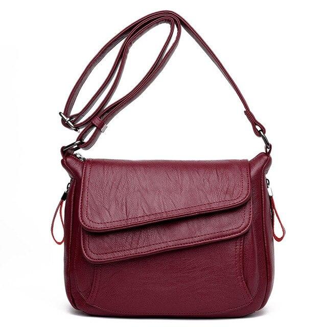 Nuevo bolso de hombro de cuero de alta gama para mujer de diseñador de lujo pequeño bolso Cuadrado Negro Azul para chicas