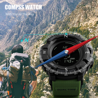 SKMEI Men Outdoor Sport Watches Compass Countdown Pressure Watch Altitude Digital Wristwatches Waterproof Relogio Masculino1358