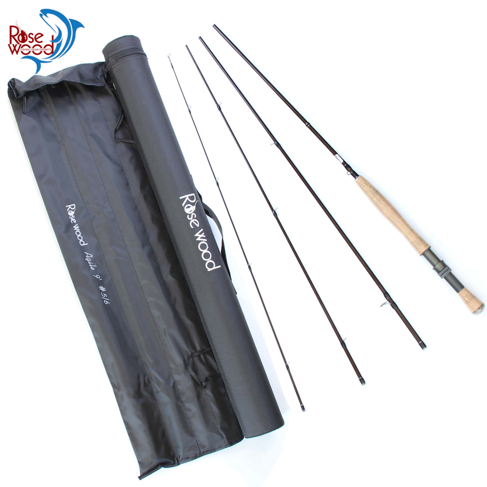 Cheap 9ft Fly Fishing Rod Carbon 5 6 Bass Sea