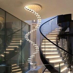 Image 1 - Modern LED avize oturma odası kolye lamba yatak odası armatürleri merdiven asma işıklar restoran asılı aydınlatma armatürü