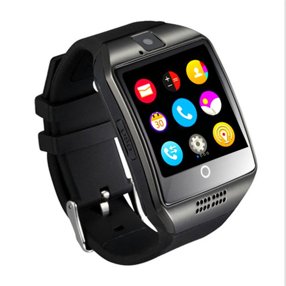 Q18 Smart Watch Passometer with Touch Screen camera Support TF card Bluetooth Smartwatch for Android for IOS Phone New