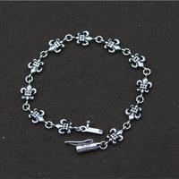 Elegant Vintage Anchor Charms Female OL Bracelet In 100 Pure Solid Sterling Silver 925 Handmade Silver