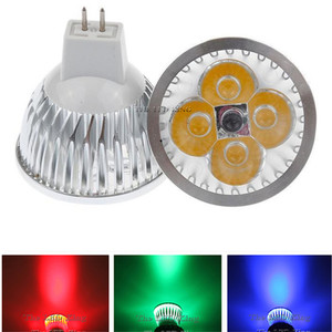1pcs MR16 LED Spotlight Non Dimmable MR16 12V LED Lamp 3W 4W 5W Red green blue Lampada LED Bulbs light Spot light led bulbs