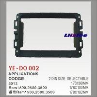 2 DIN ABS Plastic Frame Radio Fascia For Dodge Ram 1500 2500 3500 2013 Auto Stereo