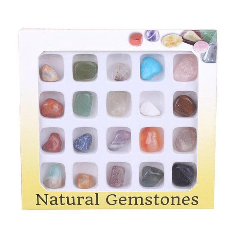 20 штук случайный камни кристаллов стихийных бедствий и минеральные камни DIY Многоцветный органические Материал камень украшения с украшен...