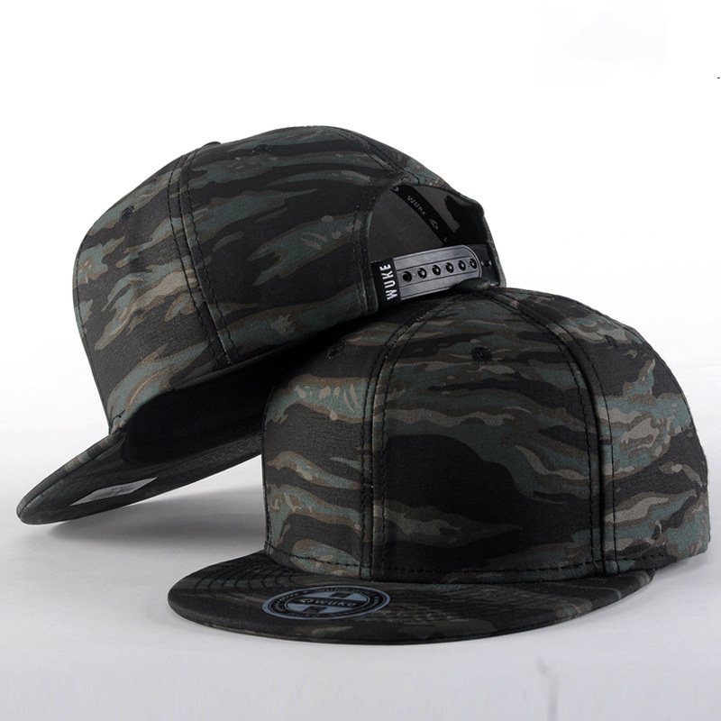 New Camouflage Snapbacks Camouflage   Baseball     Caps   Hip Hop 6 Panel   Cap   Casual Gorras Hunting Army Flat Hat Drake Free Shipping