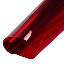 0,5x10 м красная прозрачная оконная пленка, стеклянная наклейка, самоклеящаяся, контроль тепла, оттенок, винил