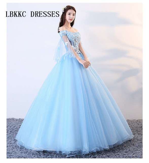 Vestidos de quinceanera azul cielo