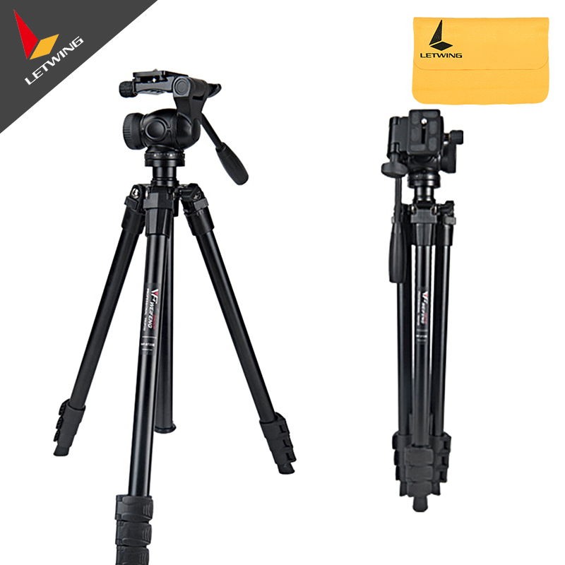 Weifeng WF-6720E Professional Universal Aluminum Tripod with Fluid Head for Canon Nikon Sony Camera original weifeng wf 6662a ball head camera tripod with carrying bag for canon nikon dslr slr