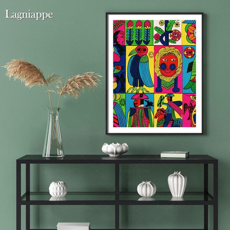 Indie Menarik Estetika Berwarna Warni Rumah Anak Anak Bayi Ruang Tamu Kamar Tidur Dekorasi Cetak Poster Gambar Lukisan Dinding Seni Kanvas Painting Calligraphy Aliexpress