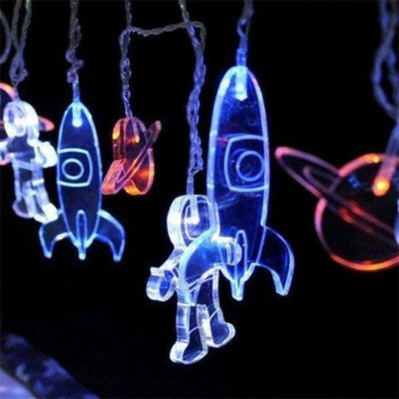 Astronaute transfrontalier LED batterie lampe chaîne chambre vacances décoration lampe bricolage belle petite lumière chaîne extérieure étanche