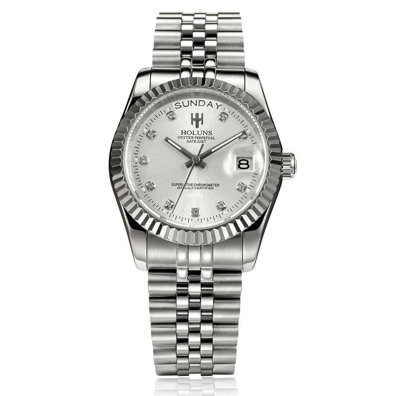 Mens relojes de lujo superior de la marca negocio clásico de cuarzo de oro de acero inoxidable calendario reloj impermeable relogio masculino - 3